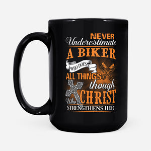 BeKingArt Motorcycle Biker Never Underestimate Who Does All Thing