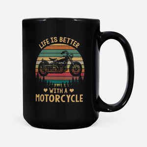 BeKingArt Motorcycle Biker Life Is Better