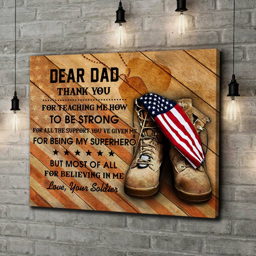 BeKingArt Family Veteran Dear Dad Thank You For Teaching Me