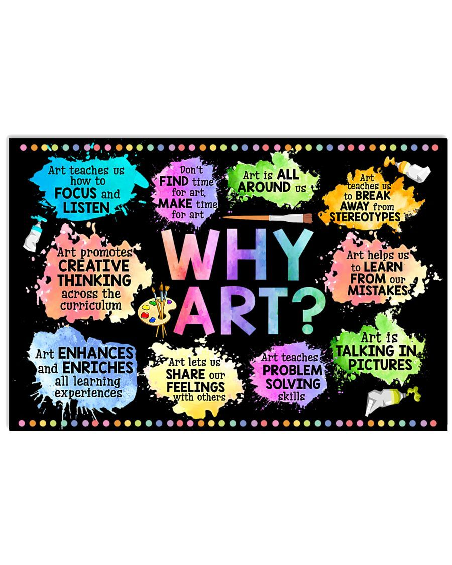 BeKingArt Why Art Welcome To Art Classroom Canvas
