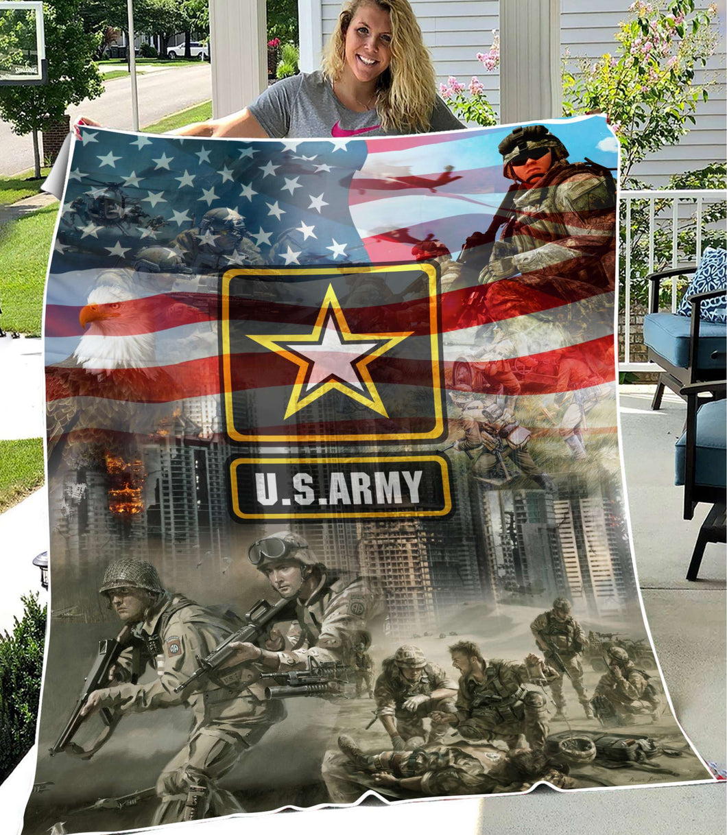 BeKingArt 3D Veteran U.S Army Proud Military
