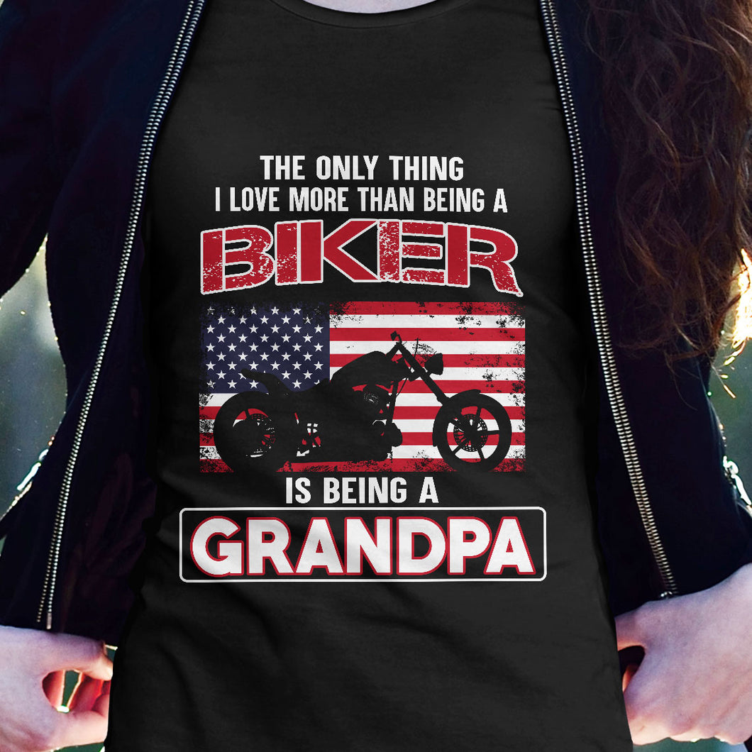 BeKingArt Biker Only Thing Love More Being A Grandpa