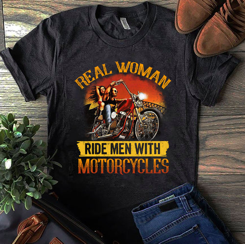 BeKingArt Biker Real Women Ride Men With Motorcycle
