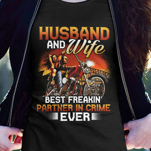 BeKingArt Biker Husband And Wife Partner In Crime