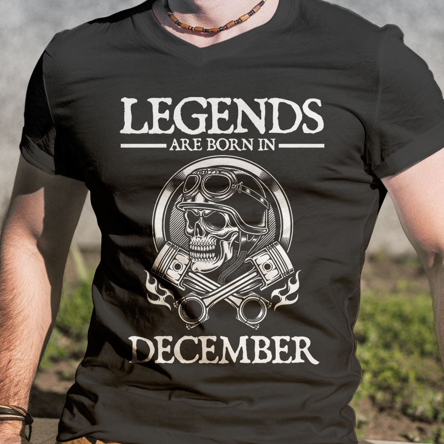BeKingArt Biker Legends Are Born In December