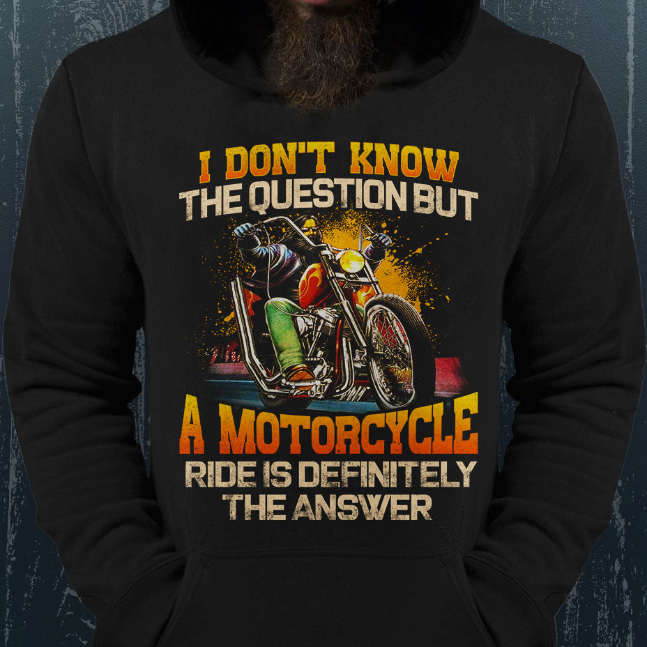 BeKingArt Biker Know The Question Motorcycle Ride The Answer