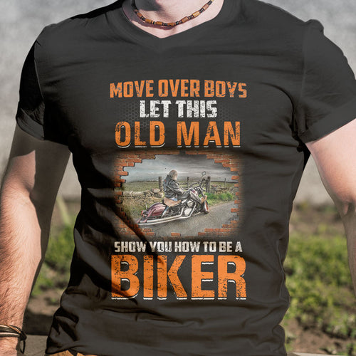 BeKingArt Biker Move Over Boy Let This Old Man