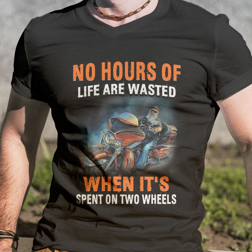 BeKingArt Biker No Hour Of Life Wasted When Spent On Wheel