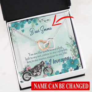BeKingArt Biker Personalized You Are The Spark To My Plug