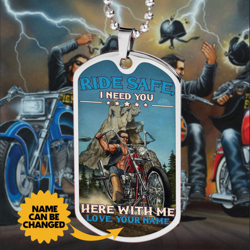 BeKingArt Biker Personalized Ride Safe Need You Here With Me