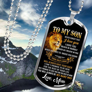 BeKingArt To My Son Proud Of Son Mother Love Lion