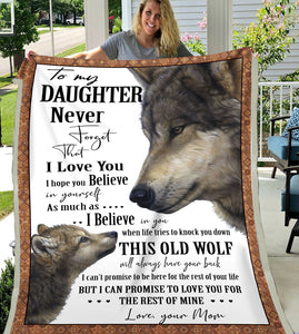 BeKingArt To My Daughter Old Wolf Always Have Your Back