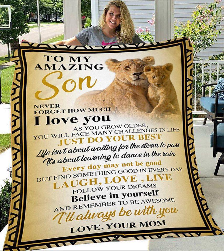 BeKingArt To My Amazing Son How Much I Love You Lion