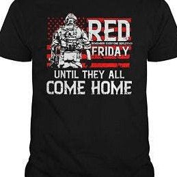 BeKingArt Veteran Red Friday Until They Come Home