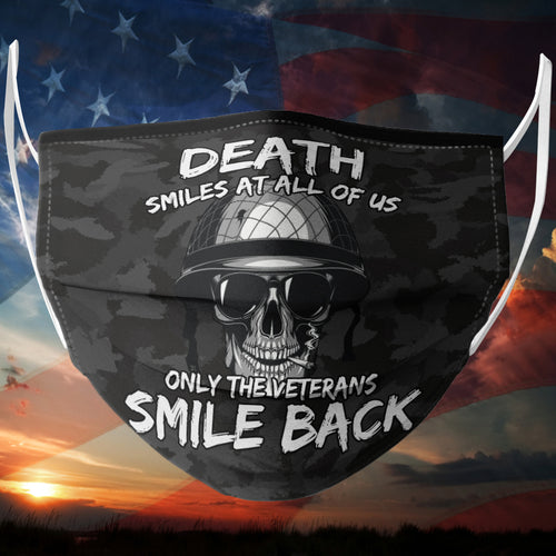 BeKingArt Veteran Death Smile All Us Only Veteran Smile Back