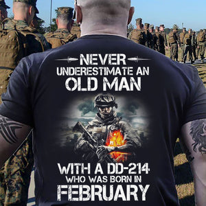 BeKingArt Veteran Never Underestimate Old Man With DD-214 Born February