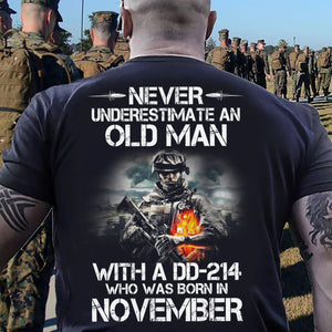 BeKingArt Veteran Never Underestimate Old Man With DD-214 Born November