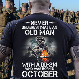 BeKingArt Veteran Never Underestimate Old Man With DD-214 Born October