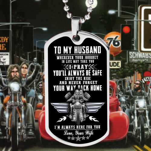 BeKingArt Biker To My Husband Pray You Always Be Safe