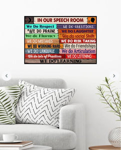 BeKingArt In Our Speech Room Canvas