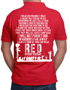 BeKingArt Veteran Red Fridays I Wear Red Proudly Today