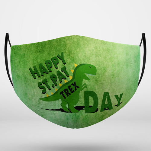 BeKingArt Irish Happy St.Pat Trex Day Funny Cute Green Dinosaur