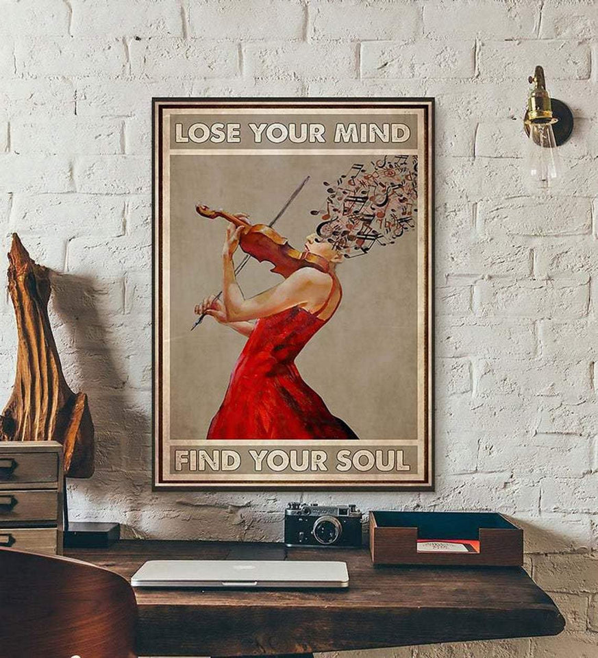 BeKingArt Lose Your Mind Find Your Soul Violin