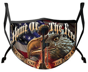 BeKingArt Veteran American Military Home The Free Because The Brave