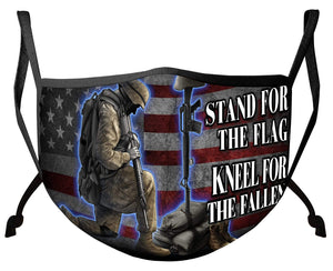 BeKingArt Veteran I Stand For The Flag Kneel For The Fallen