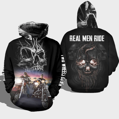 BeKingArt 3D Personalize Biker Motorcycle Lover Cool Real Men Ride