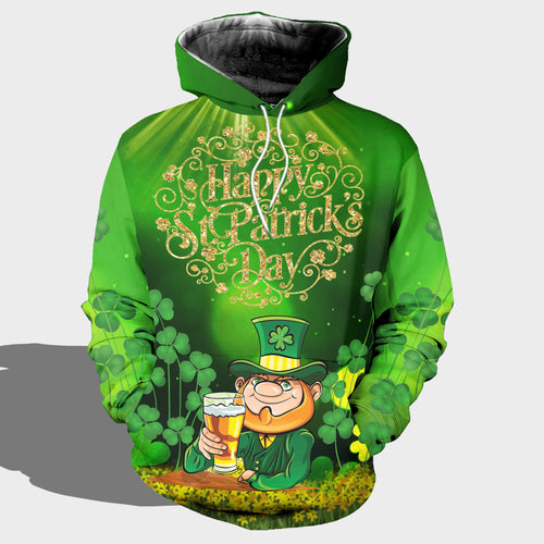BeKingArt 3D Irish Happy St Patrick's Day Shamrock