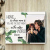 BeKingArt Family Personalize Photo Print Home Is Where Mom Is Best Gift For Mom Photo Clip Frame