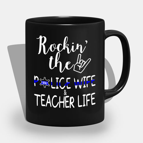 BeKingArt Police Rocking The Police Wife Teacher Life