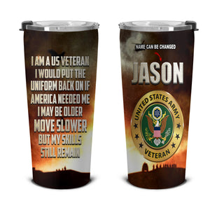 BeKingArt Veteran Personalized Army Veteran Put Uniform Back On If America Need Me
