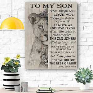 To My Son Never Forget That I Love You Matte Canvas - ATMTEE