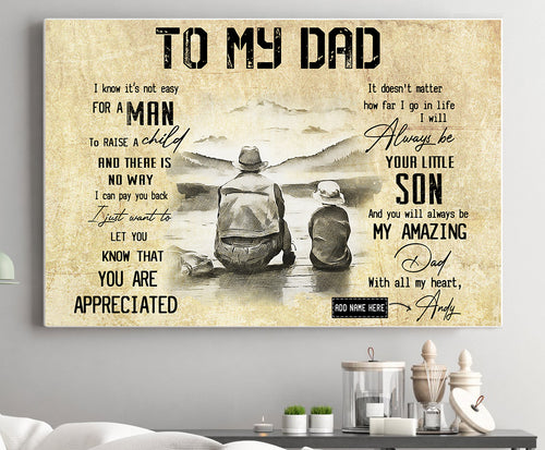 BeKingArt Family To Dad I Will Always Be Your Little Son Poster Vertical Poster
