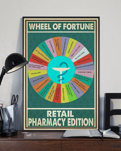 BeKingArt Wheel Of Fortune Retail Pharmacy Edition Canvas