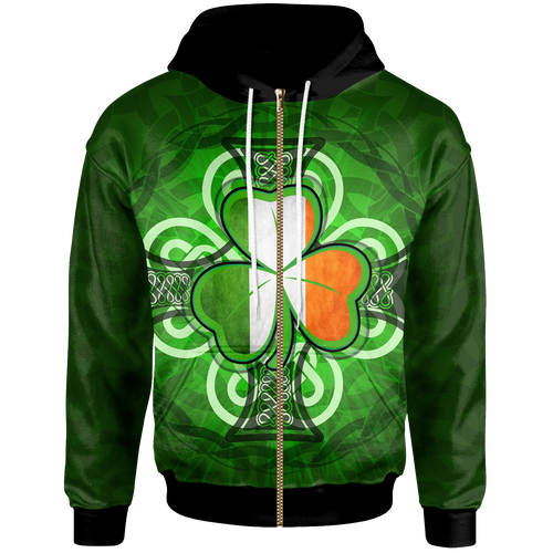 BeKingArt 3D Irish Shamrock With Celtic Cross