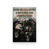 BeKingArt Biker Personalized Having One Loyal Brother Worth More - Poster