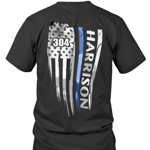 BeKingArt Police Distressed Thin Blue Line Personalized