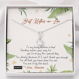 BeKingArtz Family Personalized To Mother In Law You Are Truly The Best Necklace