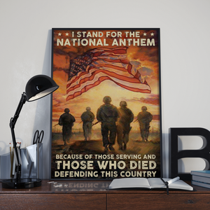 BeKingArt Veteran I Stand For The National Anthem Defending This Country