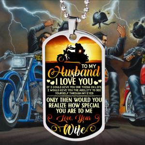 BeKingArt Biker To My Husband Love You How Special You Are
