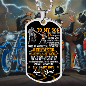 BeKingArt Biker To My Son Never Always Be My Baby Boy