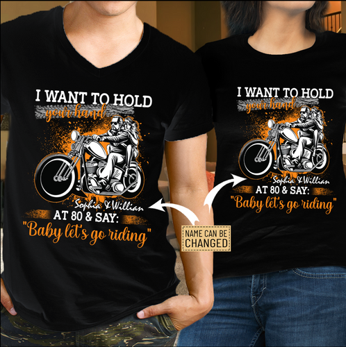 BeKingArt Biker Let Go Riding - Couple T-shirt