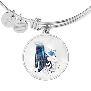 BeKingArt Police Thin Blue Line Always By Your Side Police Teacher