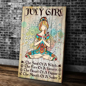 BeKingArt July Girl Yoga The Soul Of A Witch Portrait