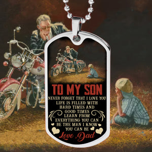 BeKingArt Biker To My Son Never Forget That Love You Life