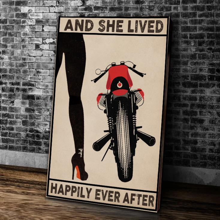 BeKingArt Biker And She Lived Happily Ever After