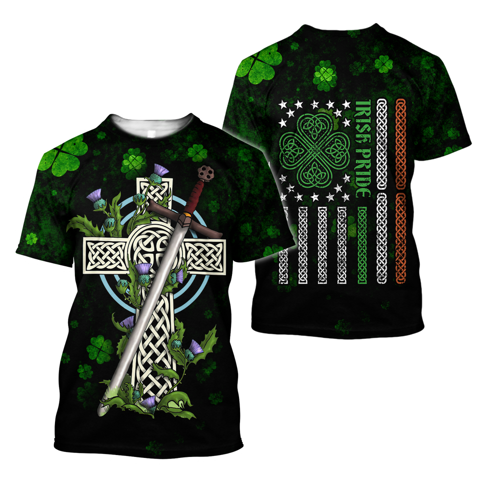 BeKingArt 3D Irish St Patrick's Day Irish Knot